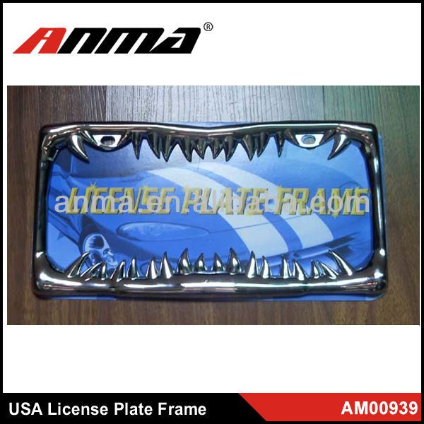Stainless Steel decorative license plate frames | Portaplacas ...