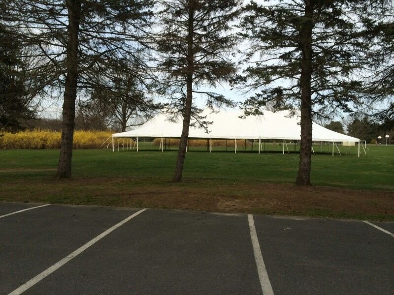 40x100 tent we set this up for a customer church