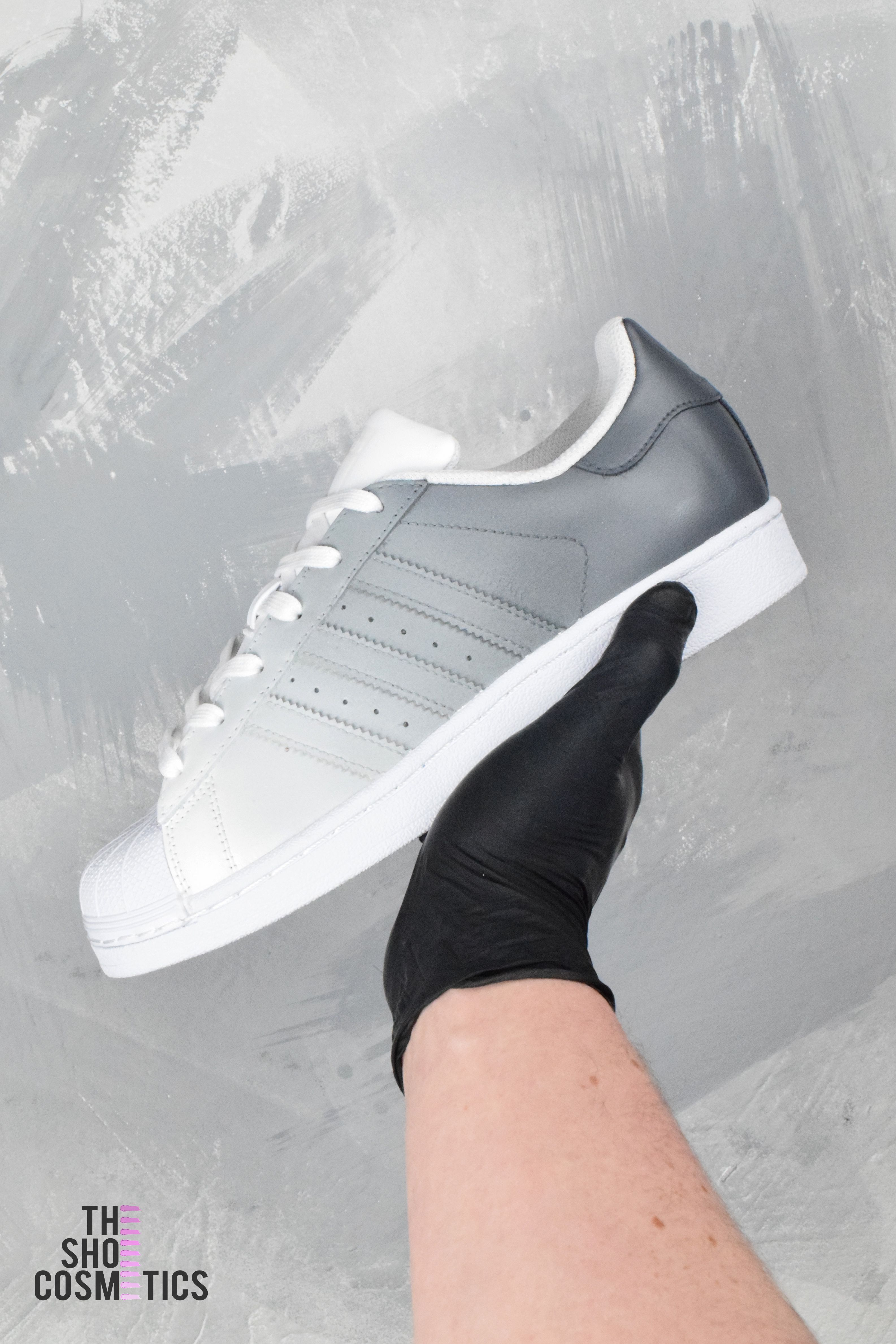f945a387e02 Explore our grey ombre custom Adidas Superstar women s shoes. Looking for  women s Adidas shoes