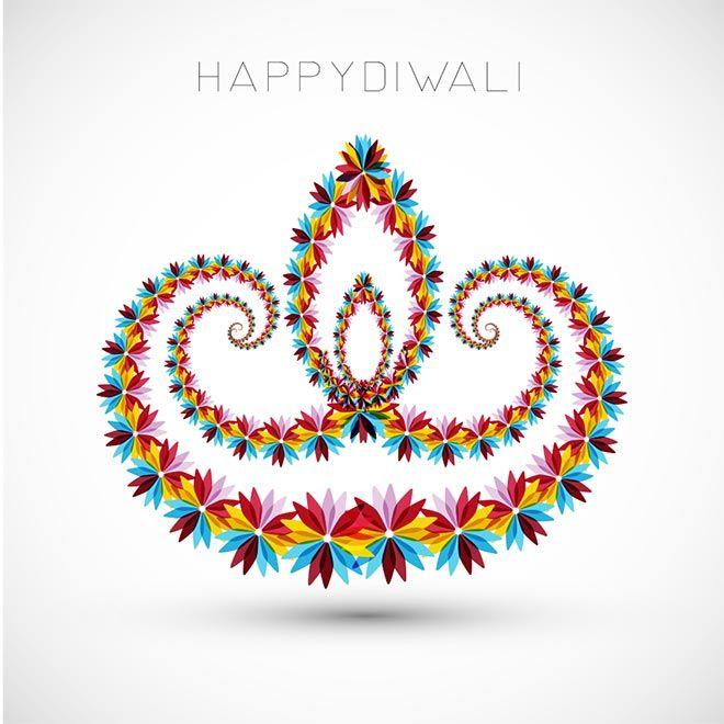 Free Vector Beautiful Artistic Happy Diwali Flower Art Pattern Logo Design For Diwali Festival Festiva Diwali Greeting Cards Diwali Greetings Flower Petal Art