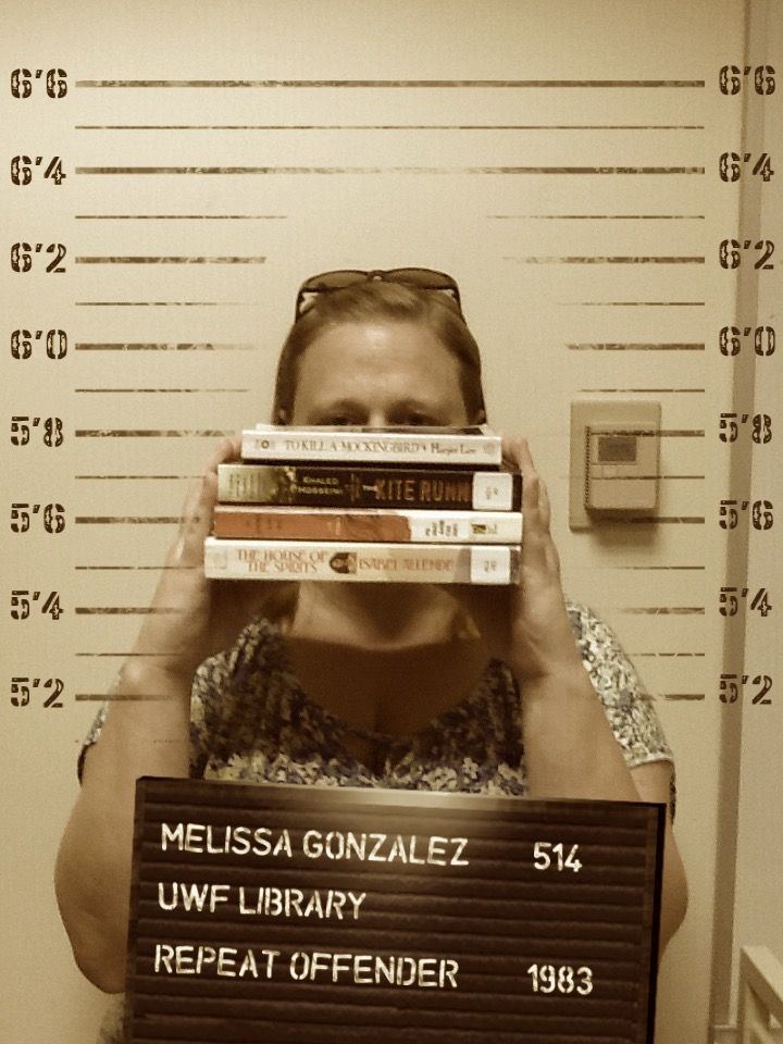 """When it comes to the freedom to read, our librarians are outlaws. Meet our Librarian Melissa """"The Mad Historian"""" Gonzalez! #bannedbooksweek"""
