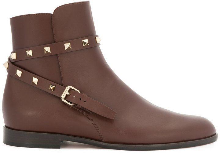 Valentino Rockstud strap boots   Pinterest   Products