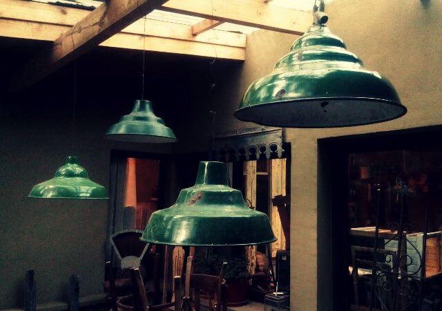 Lámparas galponeras enlosadas   Taller El Guatan