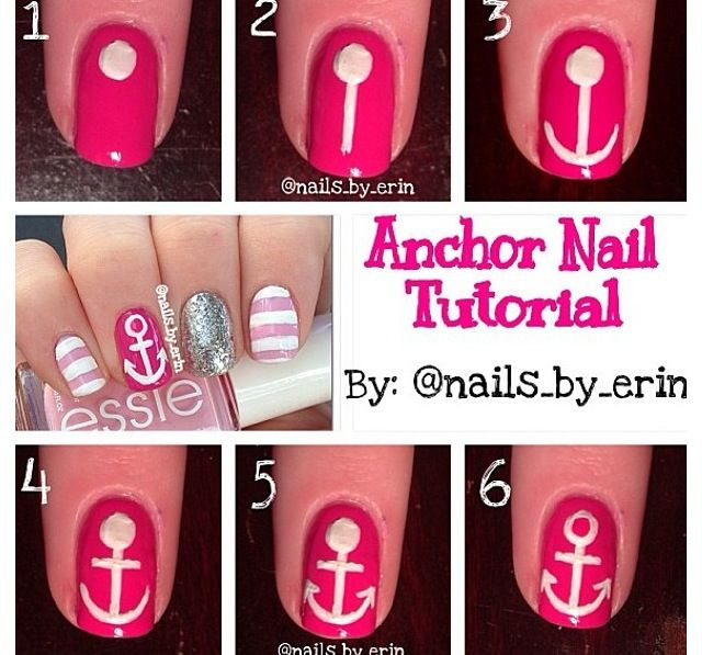 Sooo Cute! Great Tutorial For Anchors! White And Navy Blue?