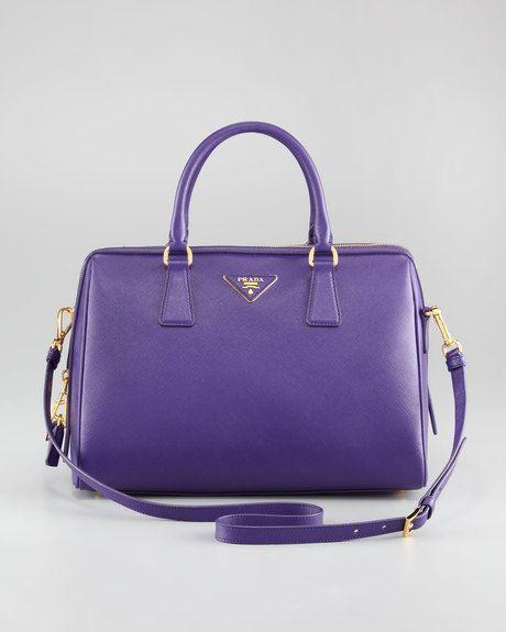 bdb74f99b544 Saffiano Lux Satchel Bag - Lyst