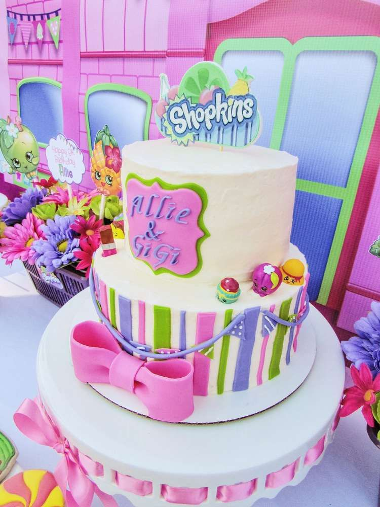 Love This Cake At A Shopkins Birthday Party See More