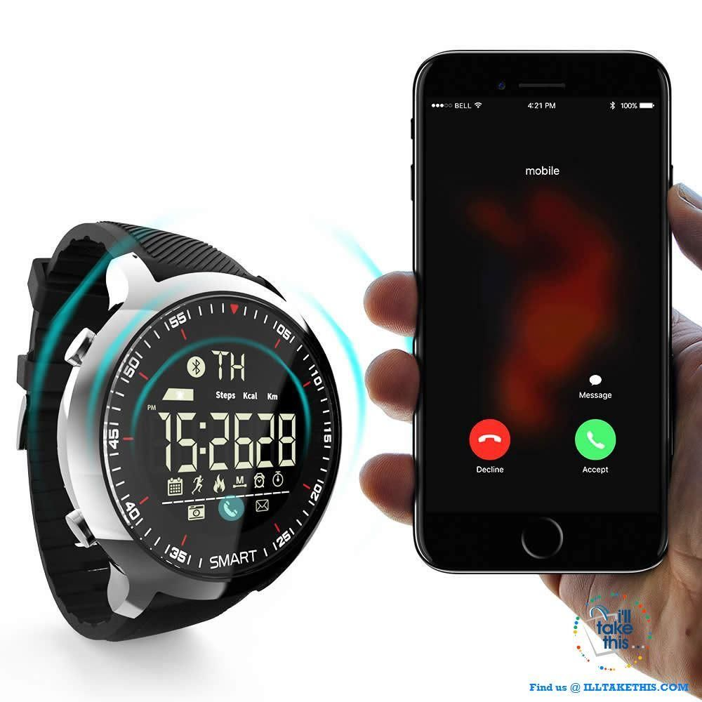 Men's Sports Smartwatch Waterresistant, pedometers