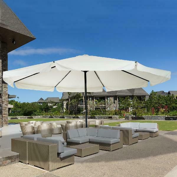 2.7M 3M 2*3M LED Light Round Solar Patio Party Garden Sunshade Parasol Ractangle