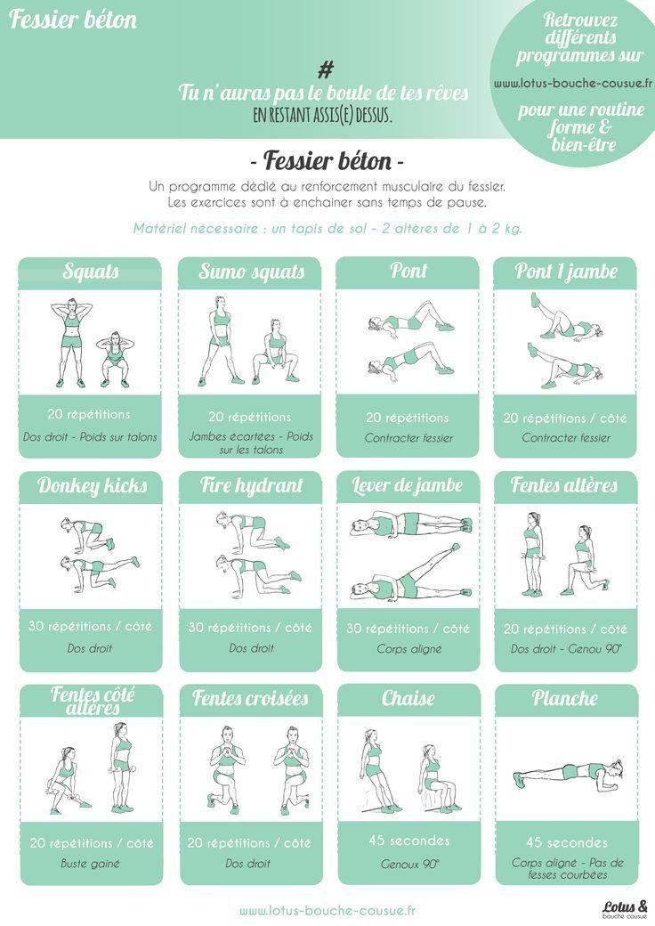 exercice pour muscler les fessiers femme rapidement