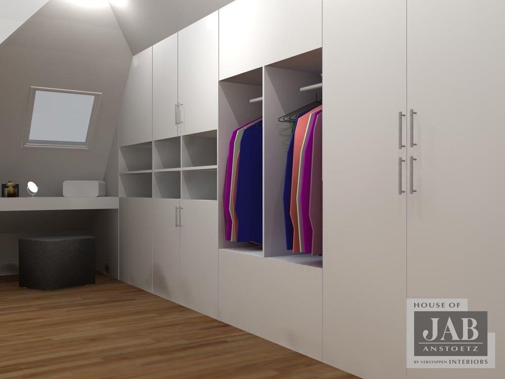 Innenarchitektur für schlafzimmer-tv-einheit maatwerk moderne kleedkamer door house of jab by verstappen