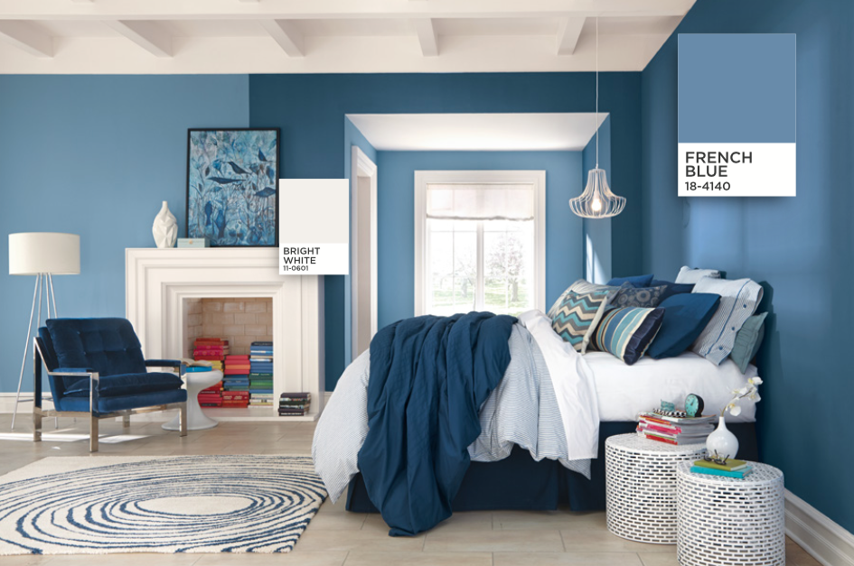 Image Result For Bright Blue Bedroom Walls Perry Master - French blue bedroom design