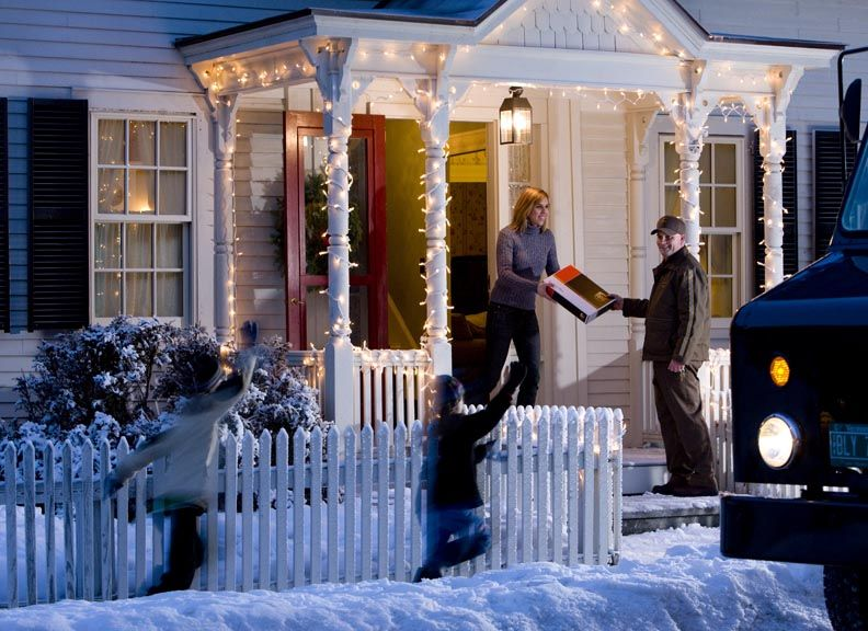 UPS making a Christmas holiday delivery Ups, Parcel