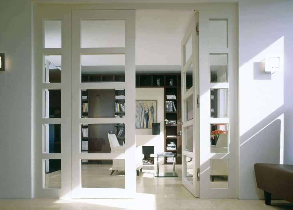 Living Room With Modern French Door Beautiful Interior French Doors French Doors Interior Custom Interior Doors Contemporary Interior Doors