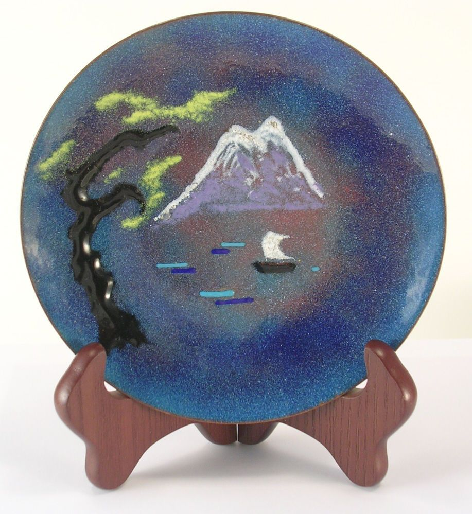 Small Decorative Plates Details About Blue Enamel Over Copper Small Decorative Plate Has