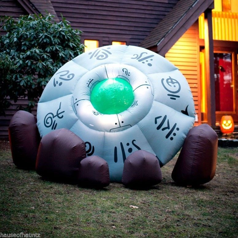 inflatable crashed ufo alien flying saucer outdoor halloween prop decor yard toy - Outdoor Halloween Decorations On Sale