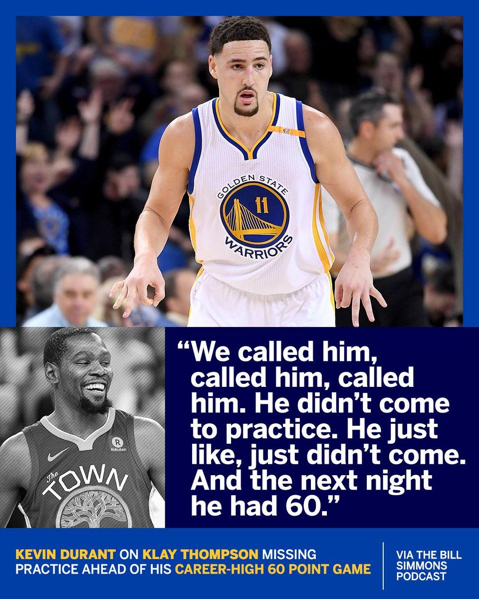 2e0a62645cf5 Kevin Durant talking about Klay Thompson!