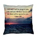 LUKE 6:20 VERSE Everyday Pillow http://www.cafepress.com/heavenlyblessings/11726646 # LUKE 620 #GospelofLuke #Luke6quote  #Luke6scripture #Askanditwillbegiven #JesusisLord #Jesussaves