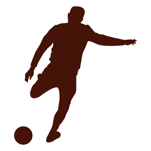 Football Player Kicking The Ball Silhouette Ad Paid Sponsored Player Silhouette Ball Football Football Players Silhouette Silhouette Png