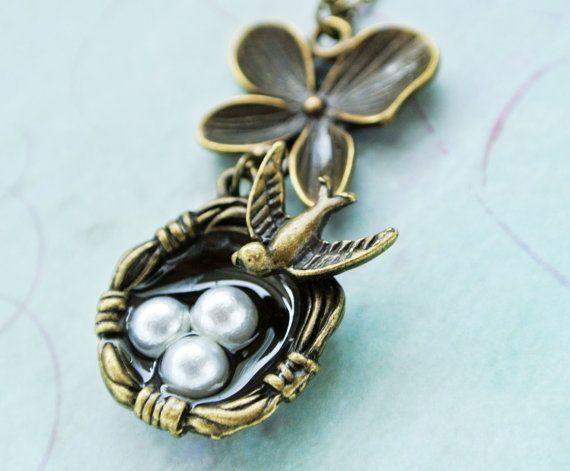 Bird nest necklace bird nest pendant necklaceorchid jewelry bird nest necklace bird nest pendant necklaceorchid jewelry necklace etsymktgtool aloadofball Gallery
