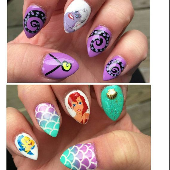 Ariel Nail Decals The Little Mermaid by IrocHipHopNailDecals