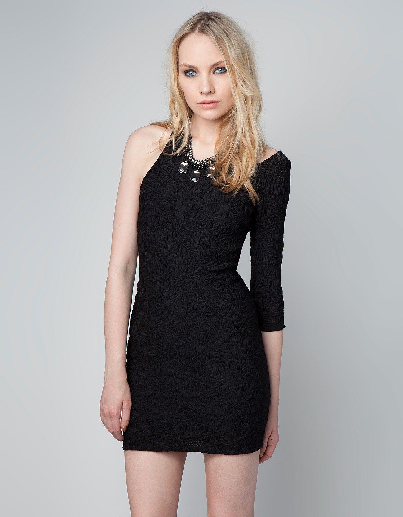 Bershka Turkey Bershka Asymmetrical Fantasy Fabric Dress Moda Stilleri Kadin Modasi Mini Elbiseler