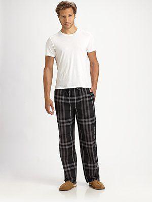Burberry - Check-Print Pajama Pants - Saks.com