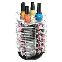 "Ikee Design® Premium Acrylic Rotating Cosmetic 64 Lipsticks Tower Organizer 4 1/2"" x 4 1/2"" x 9 1/2"""