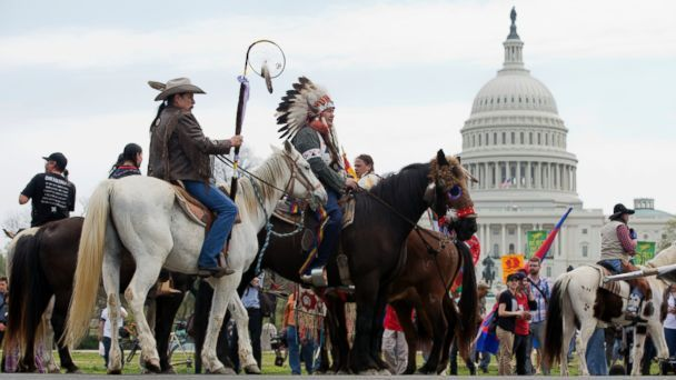 Cowboys And Indians Ride Through Dc To Protest Keystone Xl Pipeline Xl Pipeline Native American Protest Native American