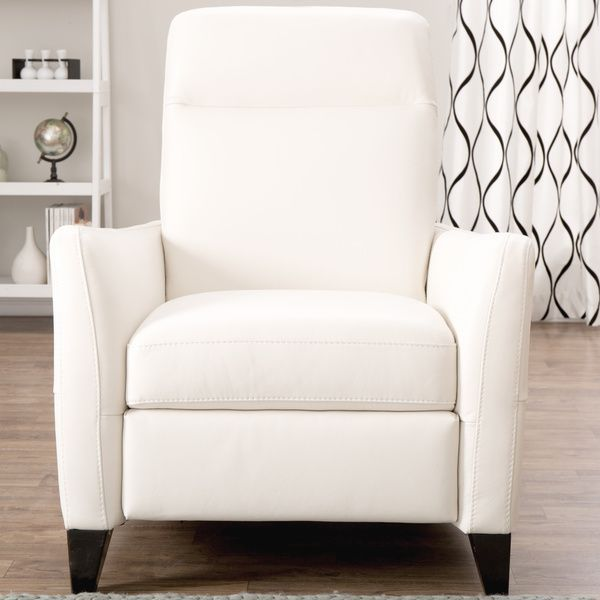 Fabulous Natuzzi Dallas Off White Italian Leather Recliner Pabps2019 Chair Design Images Pabps2019Com