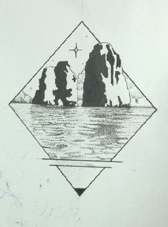 Tattoo rombo faraglioni mar de capri