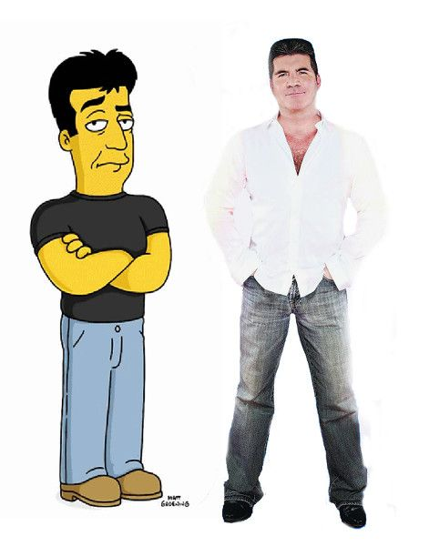 simon cowell & simon cowell cartoon.  #simon #cowell