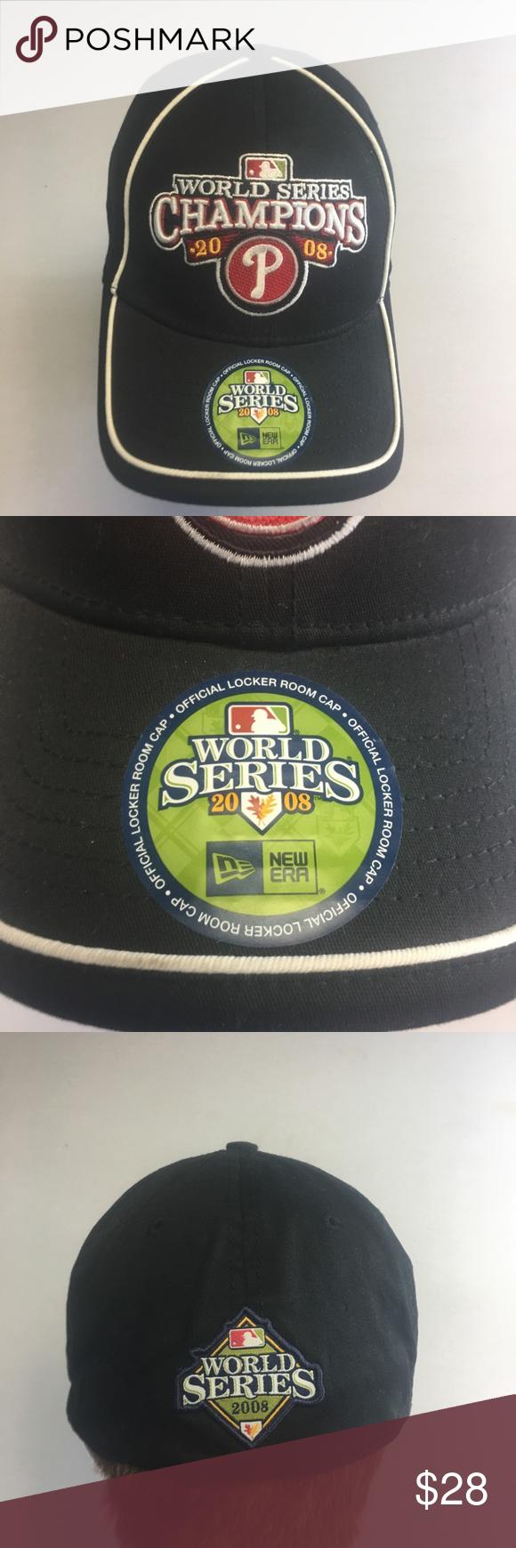 Philadelphia Phillies 2008 World Series Champs Hat New With Tags Era Mens Small Medium