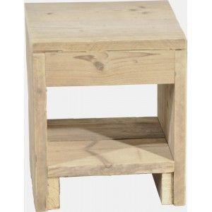 Houten nachtkastje zelf maken van steigerhout my for Zelf meubels maken van hout