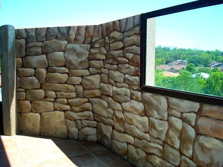 Faux Finishes 411 Jennifer Brouwer Interior Design Faux Stone Walls Faux Painting Faux Rock Walls