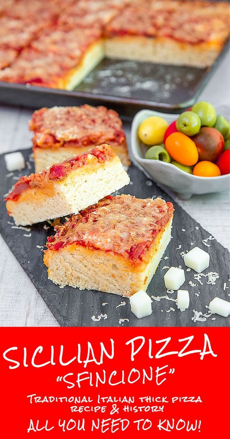 SFINCIONE: SICILIAN PIZZA RECIPE & HISTORY - all you need to know! - The Sfincione recipe is one of the most popular and traditional Sicilian pizzas. This thick flatbread seasoned with a tasty tomato sauce, preserved anchovies, and Sicilian cheese is a street food delicacy easy to find in the Palermitan markets: a must-to-try with a very ancient history. Here the traditional recipe! TAGS: #sicilian #pizza #sfincione #italian #recipes #cmofort #food #family #meal #palermitan #dinner