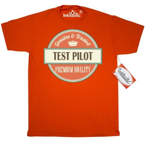 7c7266059 Inktastic Test Pilot Funny Gift Idea T-Shirt Retired Occupations Job  Vintage Logo Clothing Premium Quality Career Mens Adult Apparel Tees T- shirts Hws, ...