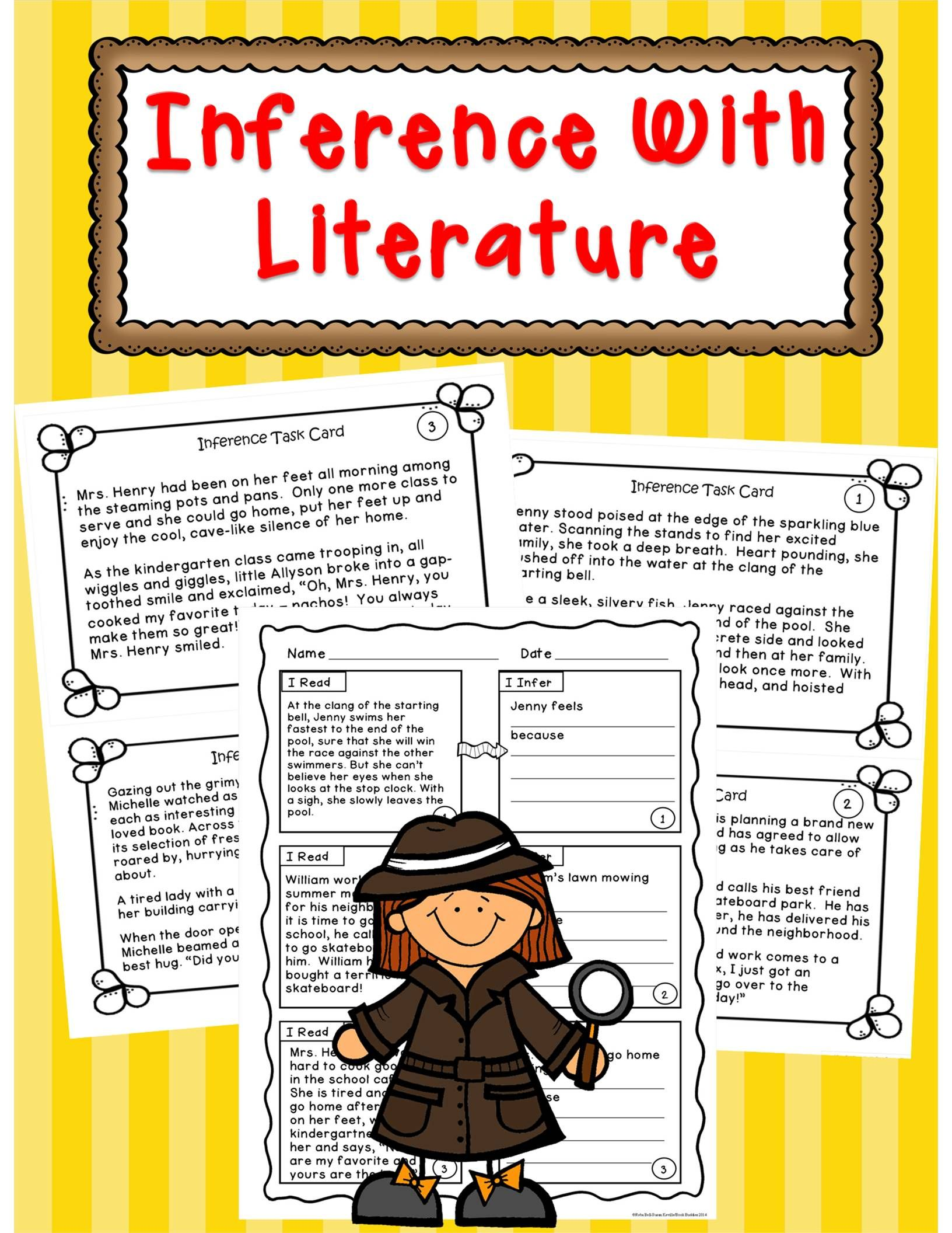 Inference Fiction Passages And Activities Teaching Ideas For 3rd