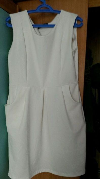 1d640b1061 biala sukienka bardzo ladna rozmiar 44 - vinted.pl