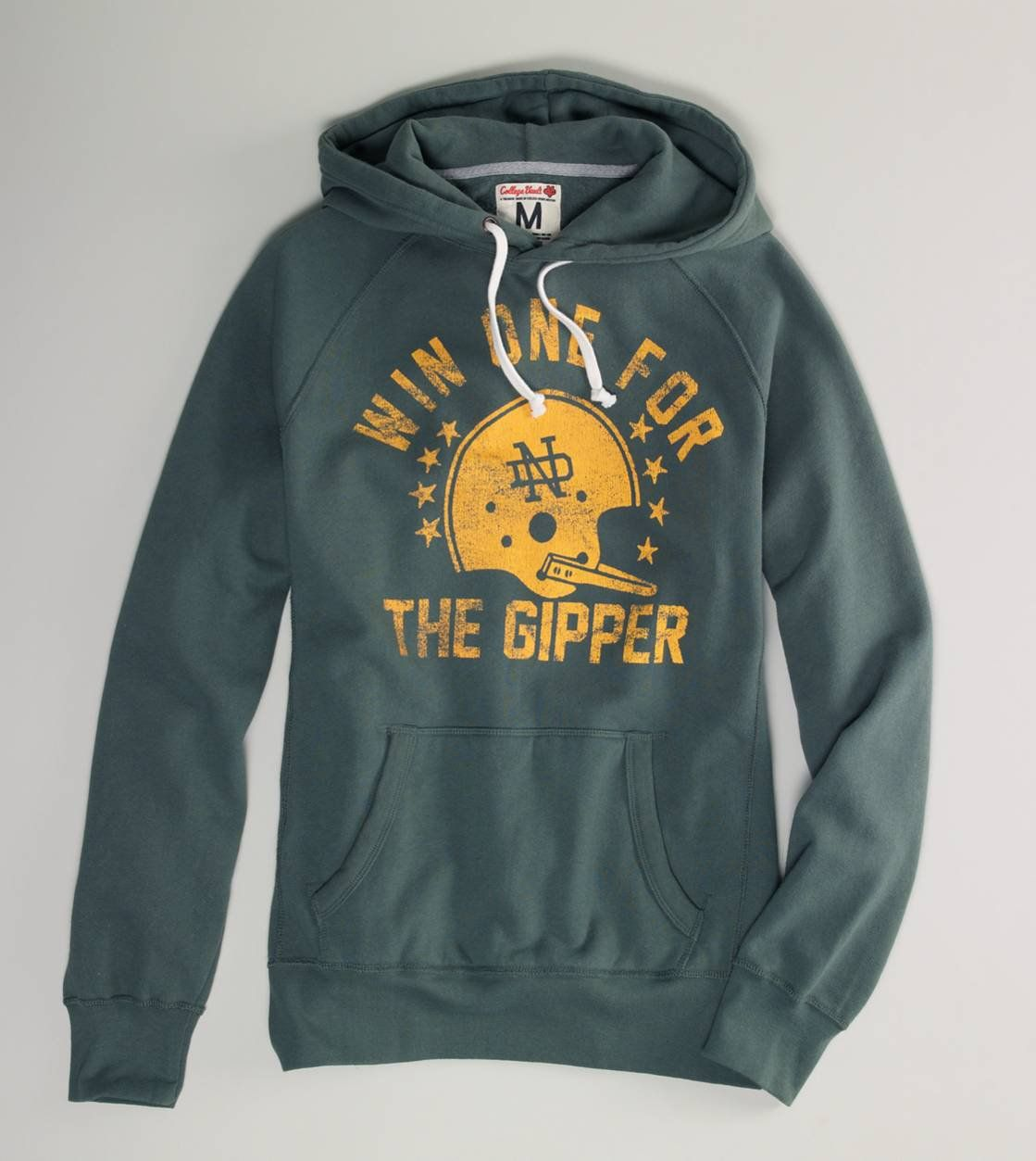 Notre Dame Vintage Hooded Popover Win One For The Gipper Mens Outfitters Hoodie Print Hoodies [ 1253 x 1119 Pixel ]