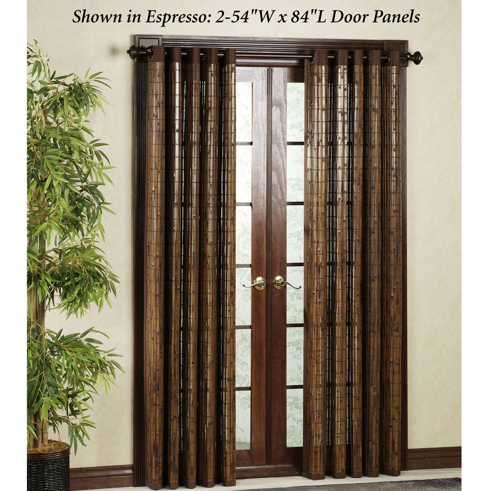 Amazing Bamboo Door Curtains Panel | ... Bamboo Tier Panel Pair As Low As $