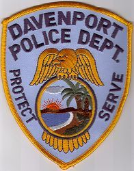 Davenport Florida Fl Police Patch Insignia Police Patches Police Police Dept