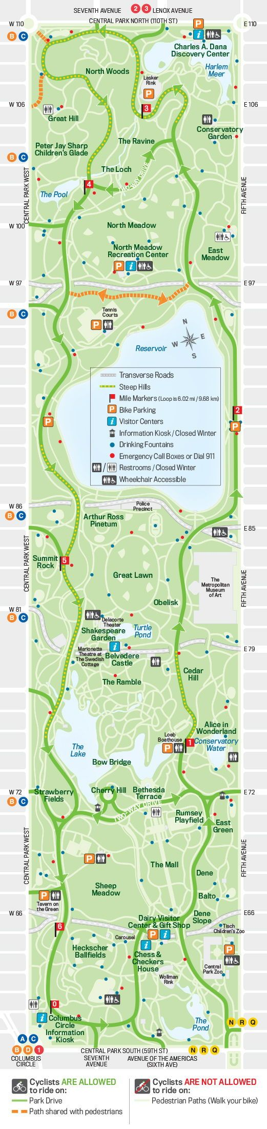 Central Park Map New York Central Park Map Central Park Map Of