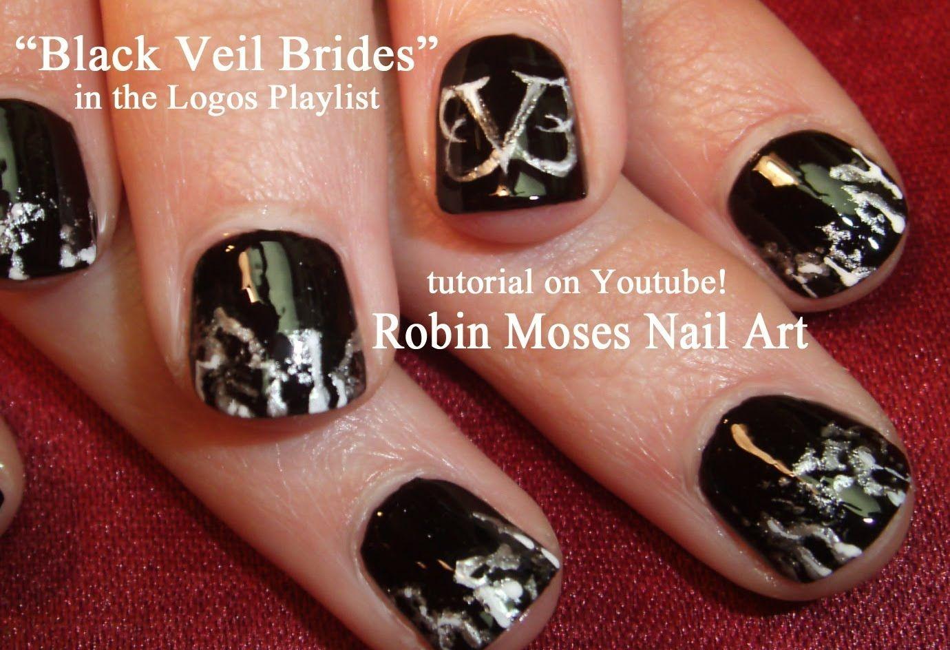 Black Veil Brides Nail Art | Cartoons, Logos & Faces NAIL ART by ...