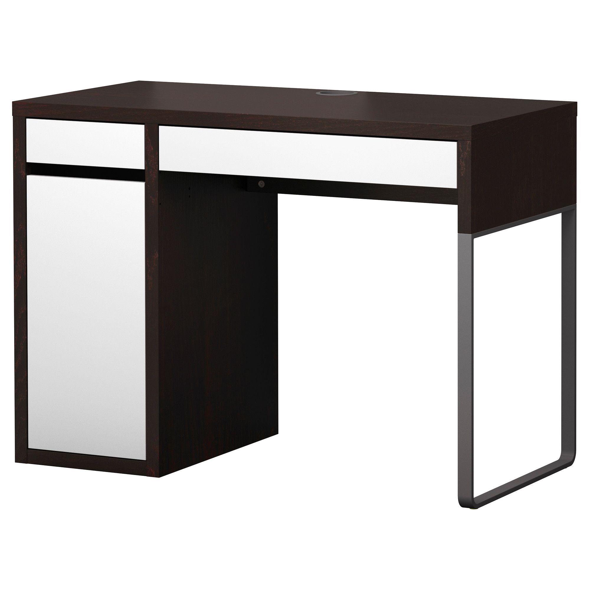 Computermeubel Bureau Ikea.Micke Desk Black Brown White 79 Ikea Home Office Ikea Desk