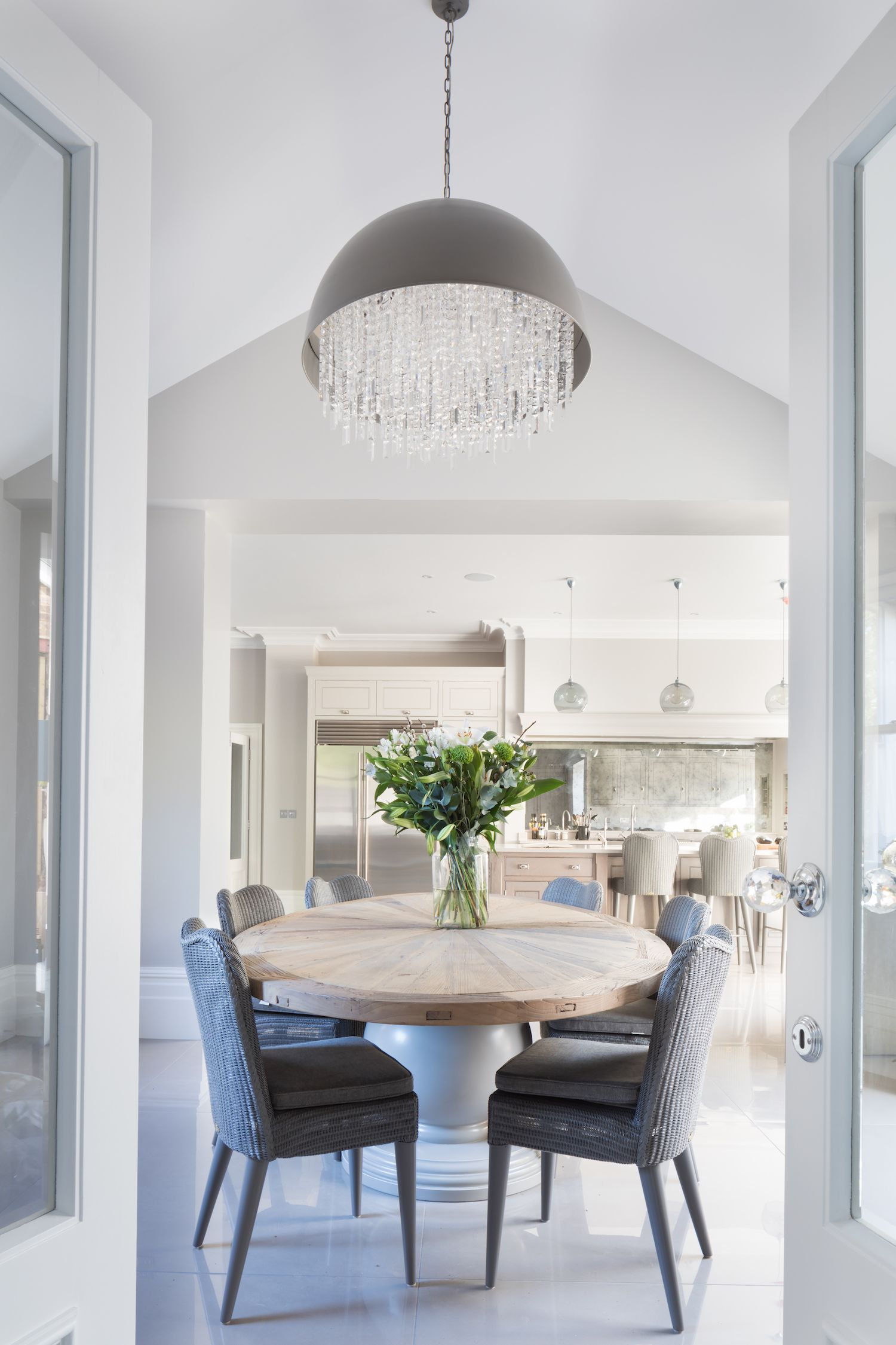 The dining area at the Theydon Bois project looking out onto the ...