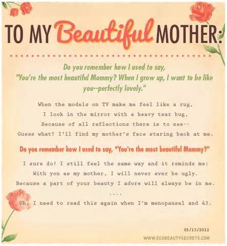To My Beautiful Mother Mom Quotes Mom Birthday Quotes Happy