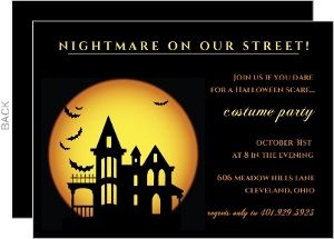Nightmare On Our Street Halloween Party Invitation - 4774 ...