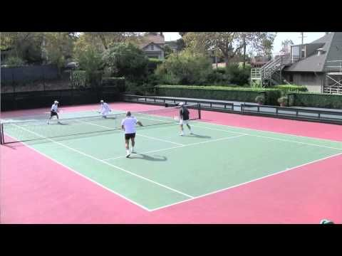 Tennis Doubles Strategy Handling The Low Volley Lob Volley Youtube