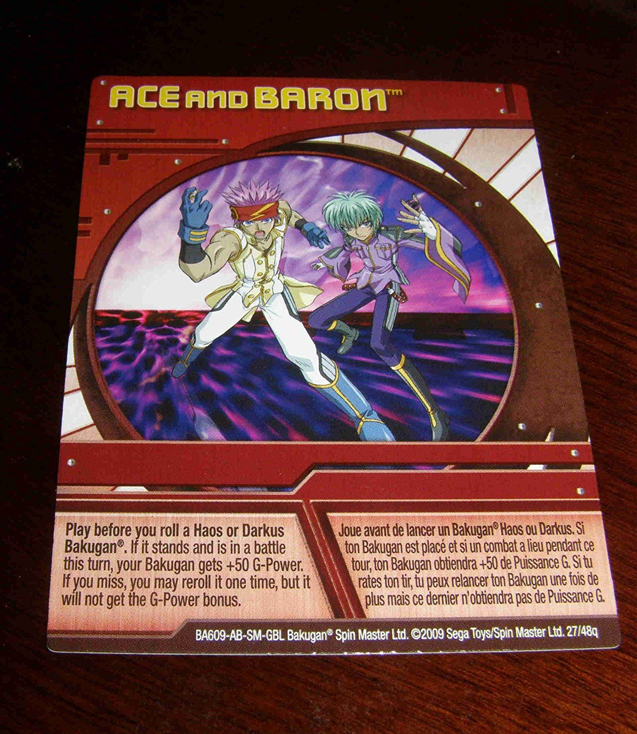 Bakugan Season 2 New Loose Paper Ability Card Ace And Baron 27 48q