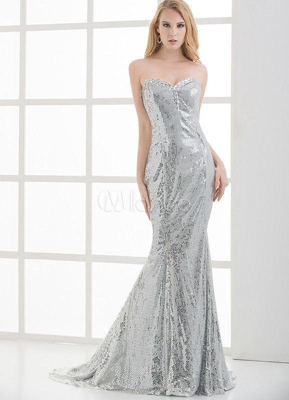 proporcionar un montón de en pies tiros de gran venta vestidos de fiesta color plata - Buscar con Google ...